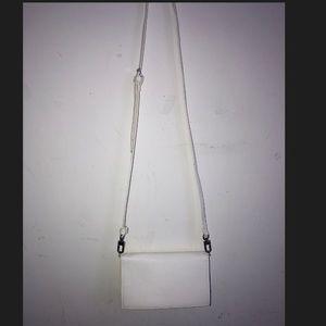All white F21 wallet shoulder bag